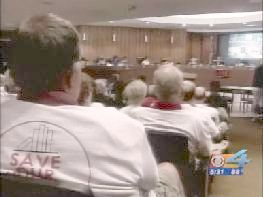 Tee Shirted GMCA Library Supporters at 2009 Budget Meeting