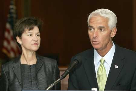 Governor Charlie Crist and Florida CFO Alex Sink