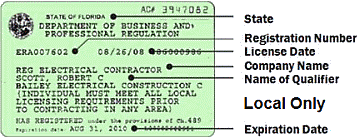 Local Only (Broward) Contractor's License