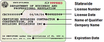 Statewide Florida Contractor's License